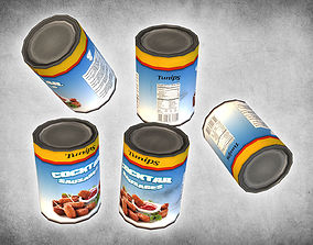 Canned Cocktail Sausages 3D asset