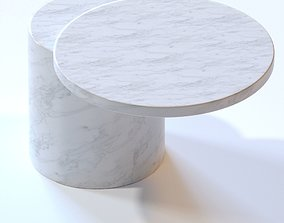 Marsotto Edizioni Taksim side table Carrara 3D model
