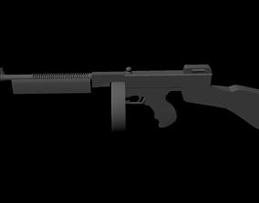 Thompson Machine Gun 3D model
