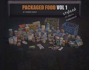 3D asset Stylized - Packaged Food