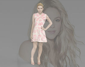 Shakira ready for full color 3D printing figurines
