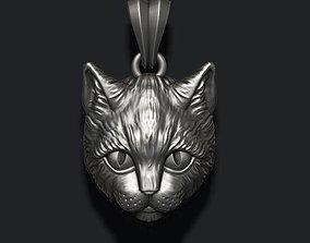 lion 3D printable model Cat pendant