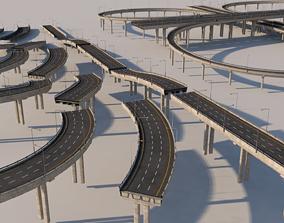 Roads vol 1 3D model PBR