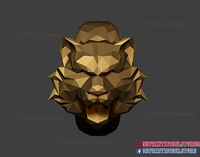 Tiger Ring Low Poly - Jewelry - Rings - 3D print model 2