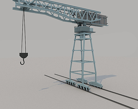3D model Moving Container Crane