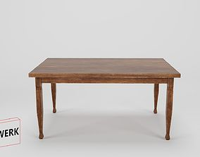 3D Model historic low Poly Table 01 game-ready
