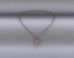 3D model realtime girl Necklace