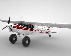 3D asset Piper Super Cub Bushplane