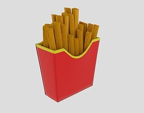 French Fries Cup 3D model
