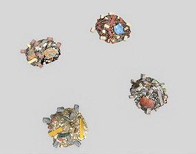 4 debris piles pack 2 3D asset