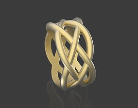 3D print model braided pattern ring