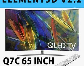 E3D - Samsung Q7C 65 Inch Remote Curved QLED 4K TV 3D