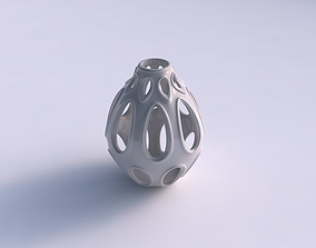 3D printable model Vase flared with smooth cuts squeezed