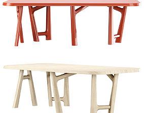 YBU dining table by Jean-Pierre Tortil 3D model