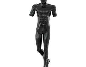 3D Black Male Mannequin 59