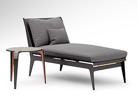 3D Gabriel Scott Boudoir chaise lounge and Bardot side
