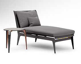 3D Gabriel Scott Boudoir chaise lounge and Bardot side