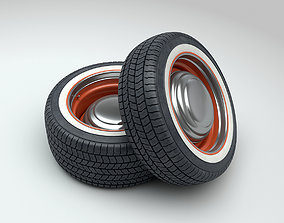 Hot Rod Wheels 3D model