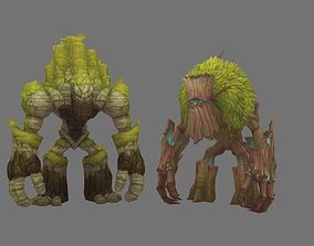 Cconcept creature of mountain and tree 3D model