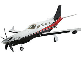 TBM 900 Socata high detailed airplane model animated