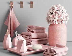 3D model Bathroom decorative set