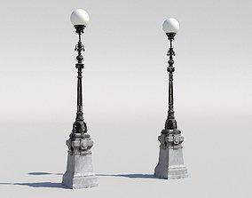 Street lamp 3D asset low-poly energy