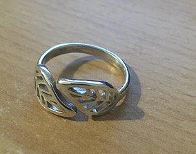 Leaf ring love 3D print model