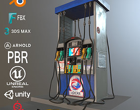3D model game-ready Gas Station Fuel Pump Screen Display