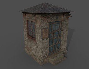 Abandoned Check Point 3D asset
