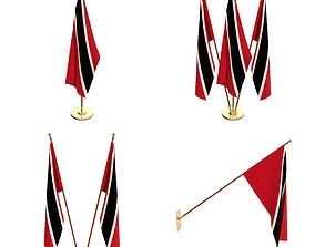 Trinidad And Tobago Flag Pack 3D