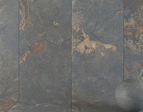 Stone Wall Tiles Kayah Rust 120x270 Set 2 3D model