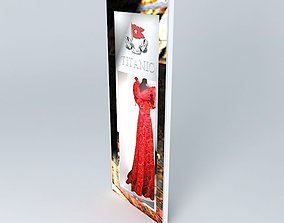 3D model TITANIC Molly Brown Style Dress 2 of 20