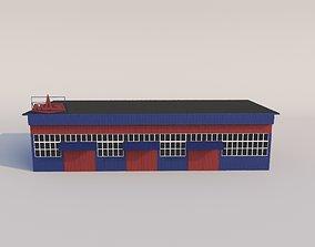 Repair shops and warehouse 3D asset