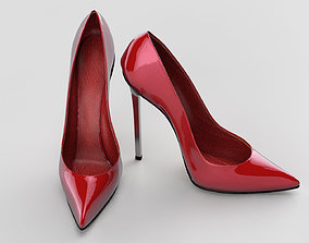 3D Red high heel women shoes