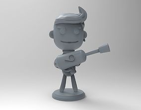 Oxygen Not Included game character with a 3D print model