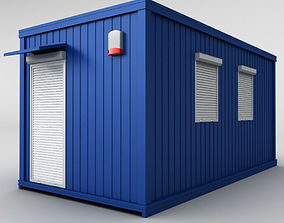 Container shipping house 3D model