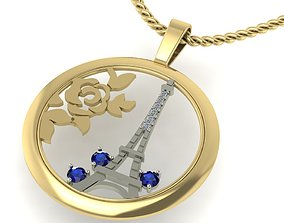 pendant i love Paris diamond 3D printable model