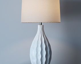 3D Otranto Ivory Crackle Table Lamp