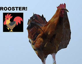 realtime Rooster 3D OBJ