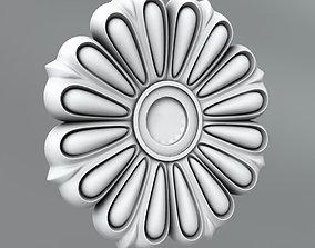 3D model Carved Rosettes Medallions decoration