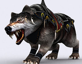 3DRT - Fantasy Mount Wolf animated low-poly