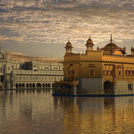 Digital 3D Model of Golden Temple, Punjab, India