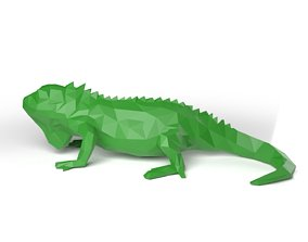3D asset Iguana Low Poligonal