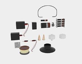 3D model Electronic Parts Packs