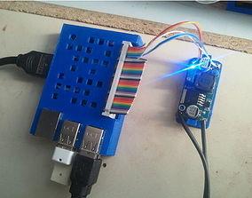 3D printable model Raspberry Pi Case with GPIO hole