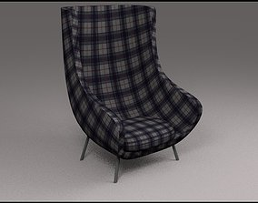 3D Modern Chair decoration