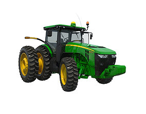 Tractor John Deere 8285R Rigged 3D