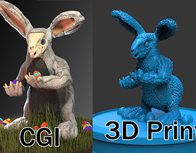 Wendigo Eastern Rabbit Monster 3D print model