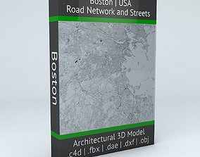 Boston Road Network and Streets system 3D model
