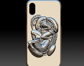 3D print model iphone XR xenomorph alien case